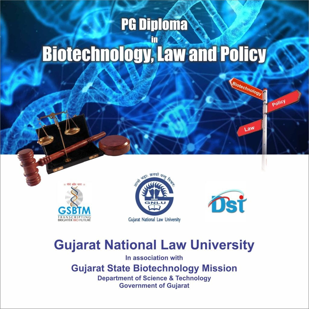 PG Diploma in Biotechnology, Law and Policy at GNLU