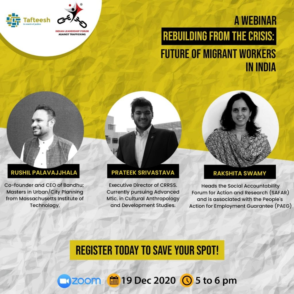 ILFAT's Panel Discussion on Rebuilding from the Crisis: Future of Migrant Workers in India