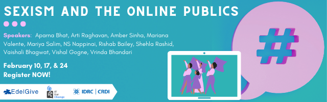 Webinar Series on Sexism and the Online Publics by IT for Change, Bangalore