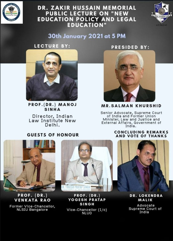 Dr. Zakir Hussain Memorial Public Lecture by NLU, Odisha