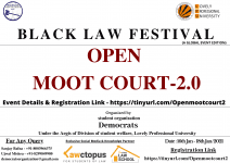 LPU Black Law Festival open moot court 2.0
