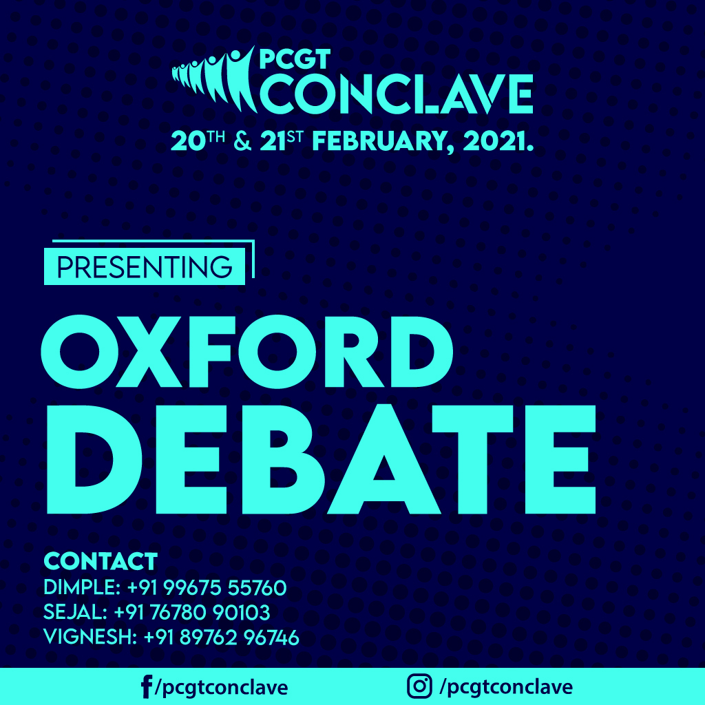 PCGT Conclave Oxford Debate