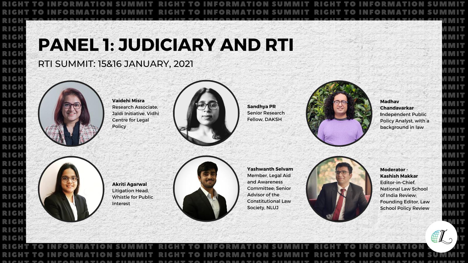 Judiciary and RTI