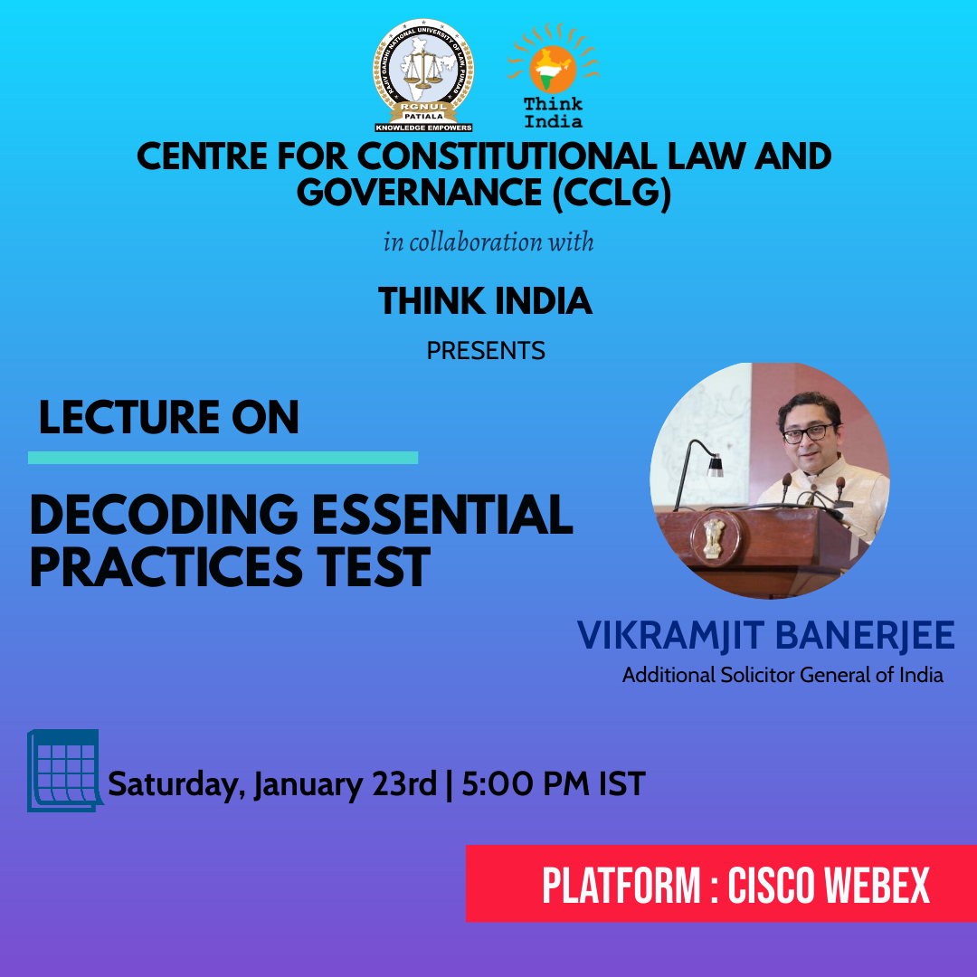 Webinar on Decoding Essential Practice Test by RGNUL