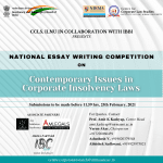 CCLS IBBI ILNU national essay competition 2021
