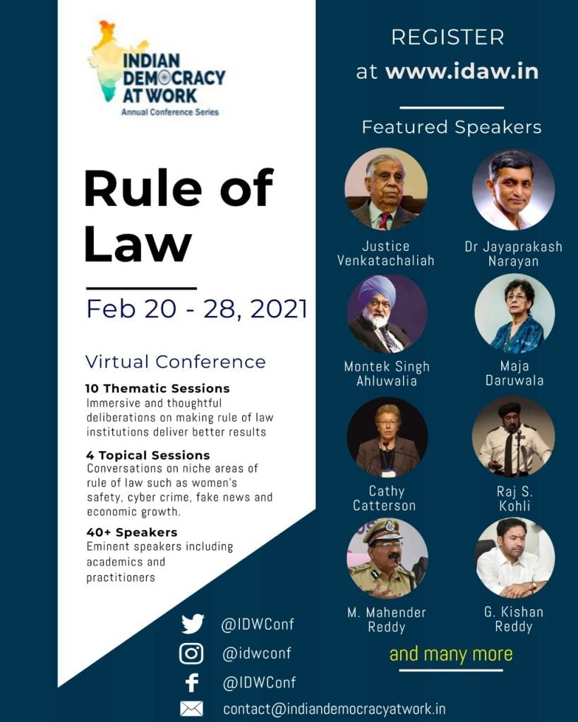 Indian Democracy at Work Conference on Rule of Law