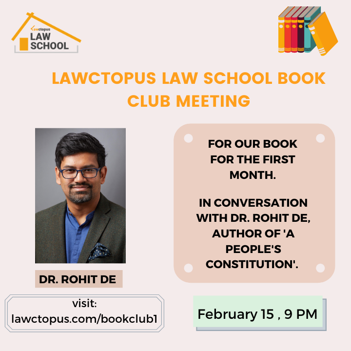 LLS Book Club Meeting with Rohit De