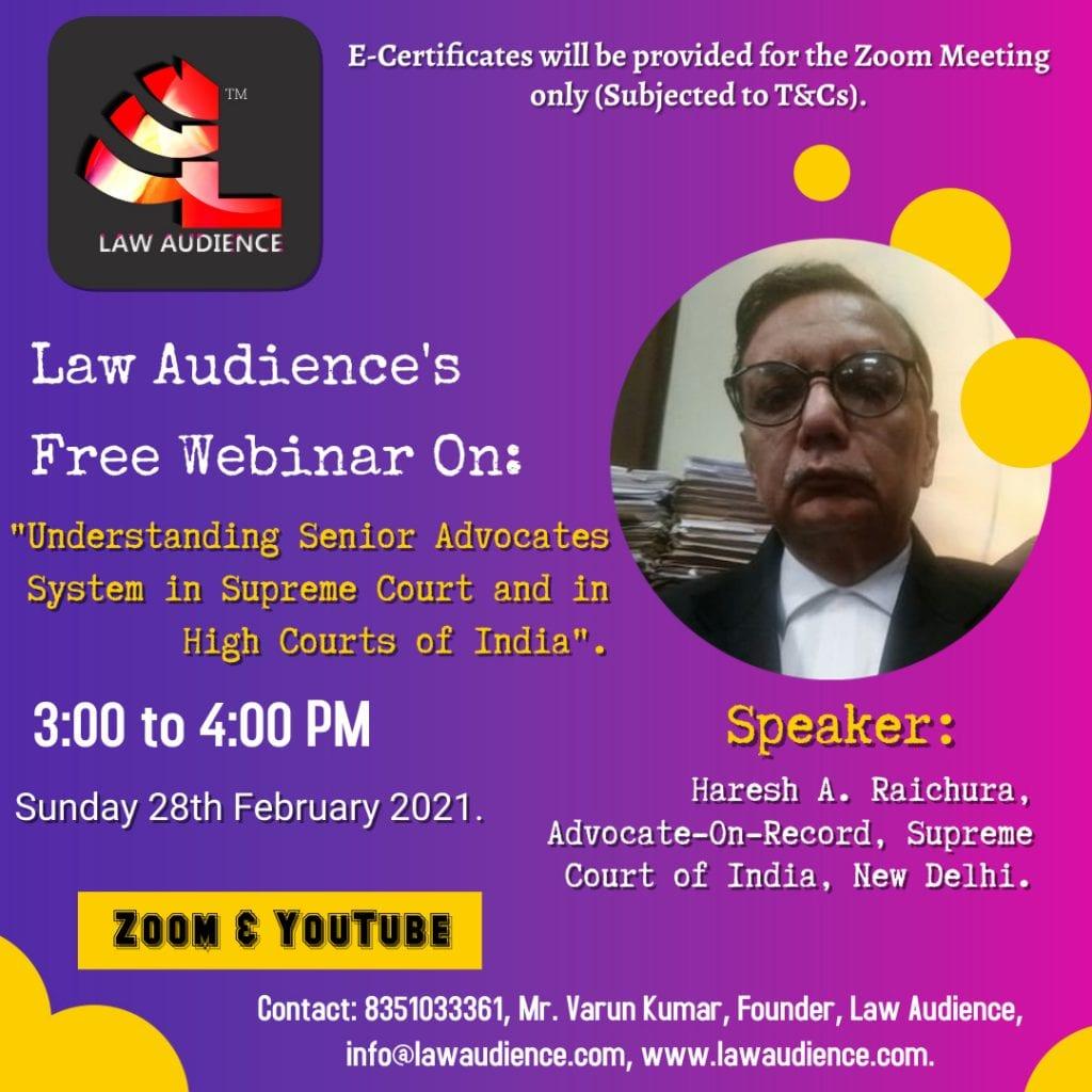 Law Audience Webinar