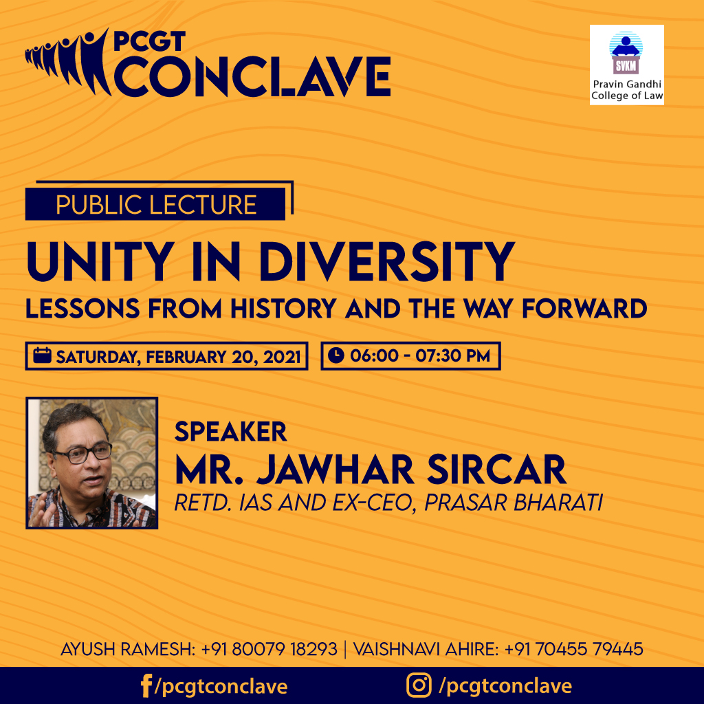 PCGT Public Lecture on Unity in Diversity