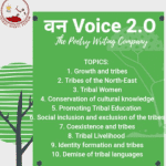 van voice poetry writing competition think india tribal rights forum