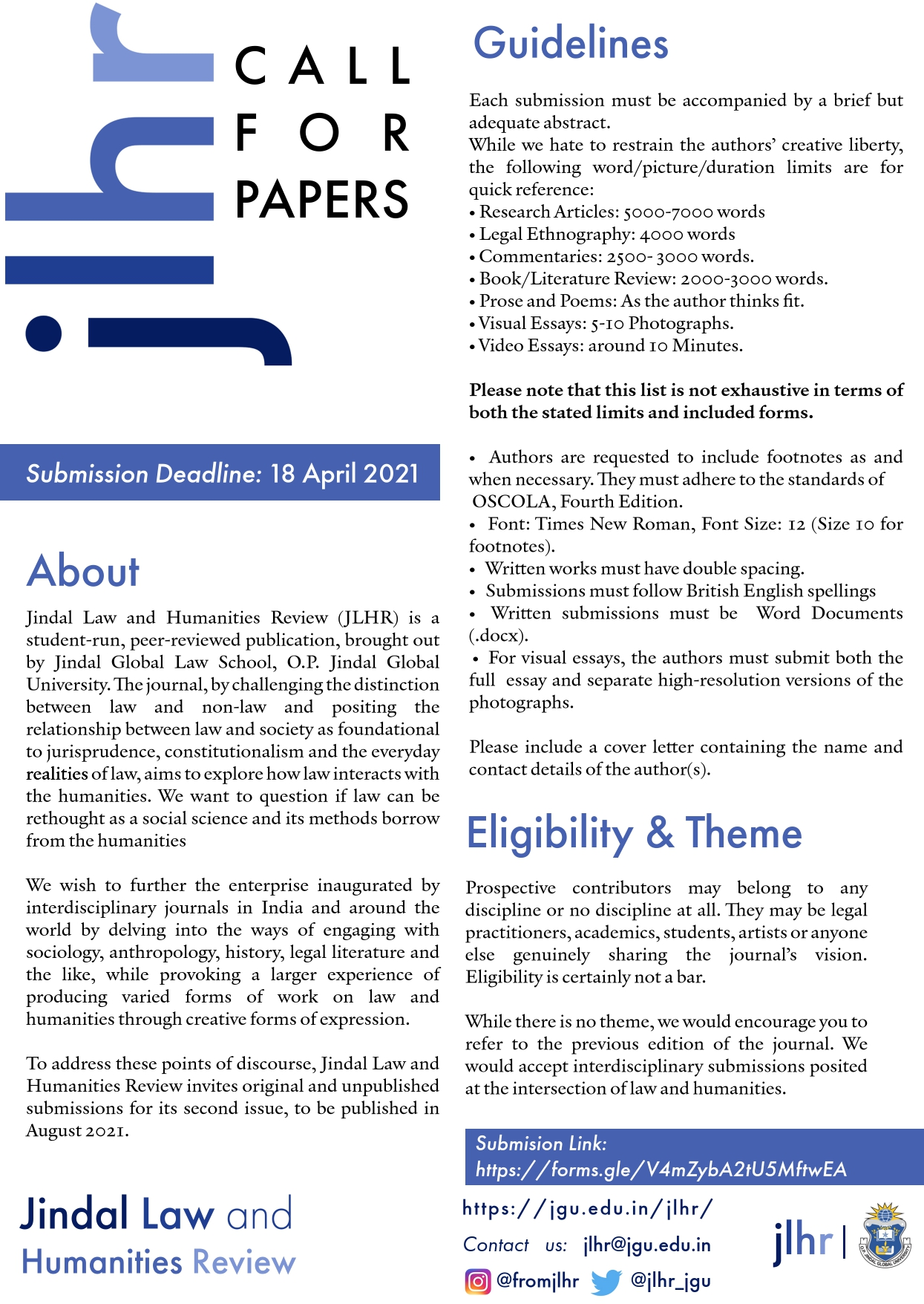 jlhr call for papers