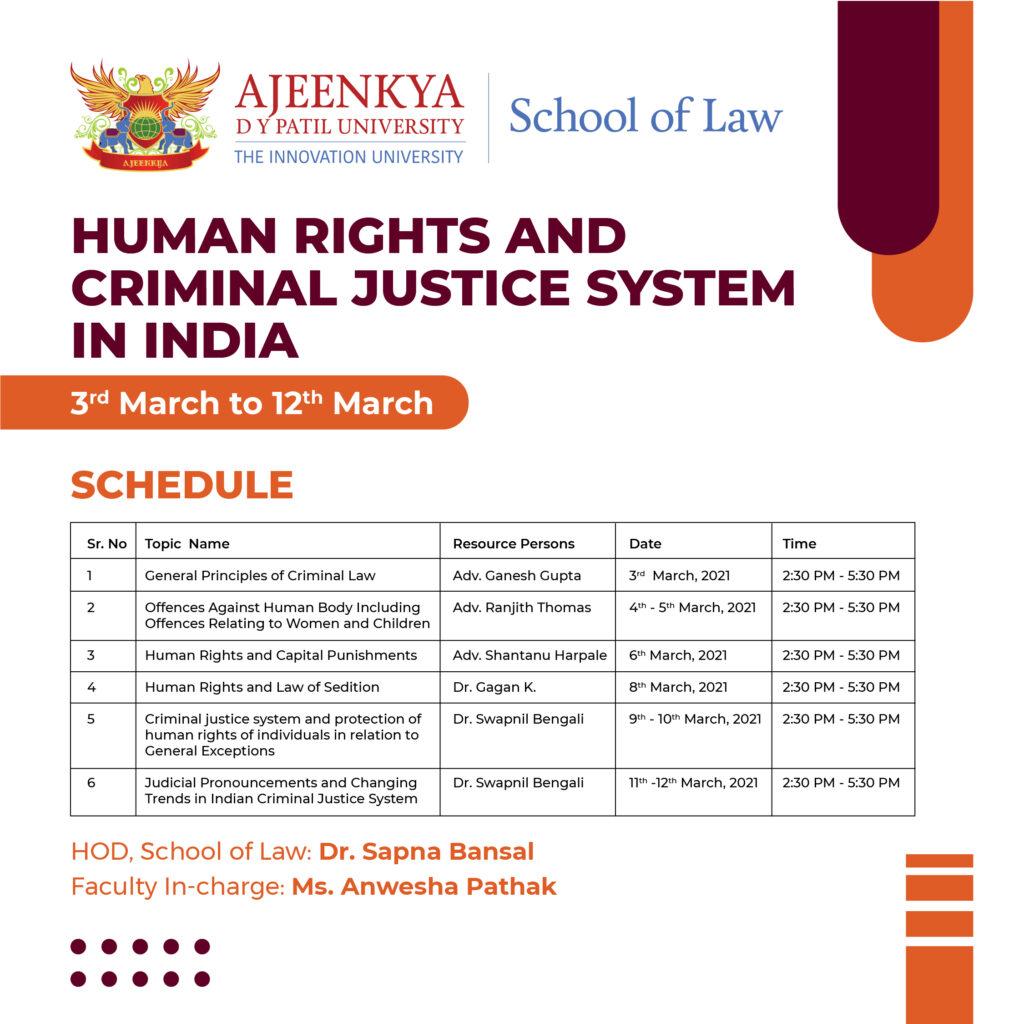 Ajeenkya DY Patil University Course