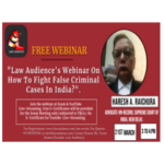 webinar on how to fight false criminal cases in india