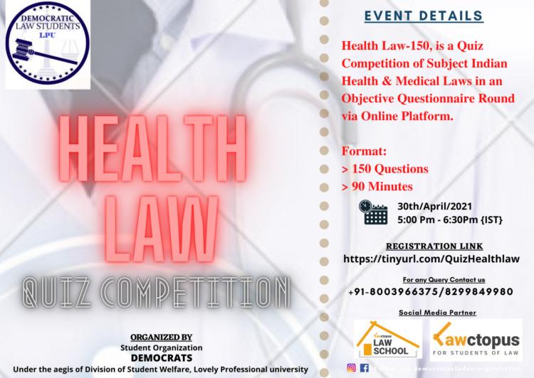 LPU Democrats' Health Law - 150 Quiz Competition