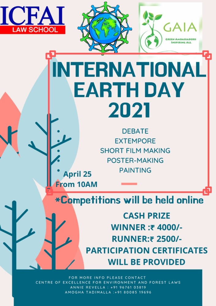 ICFAI Law School International Earth Day