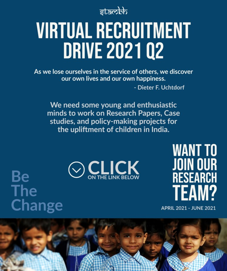 Stambh Virtual Recruitment cum Internship Drive 2021