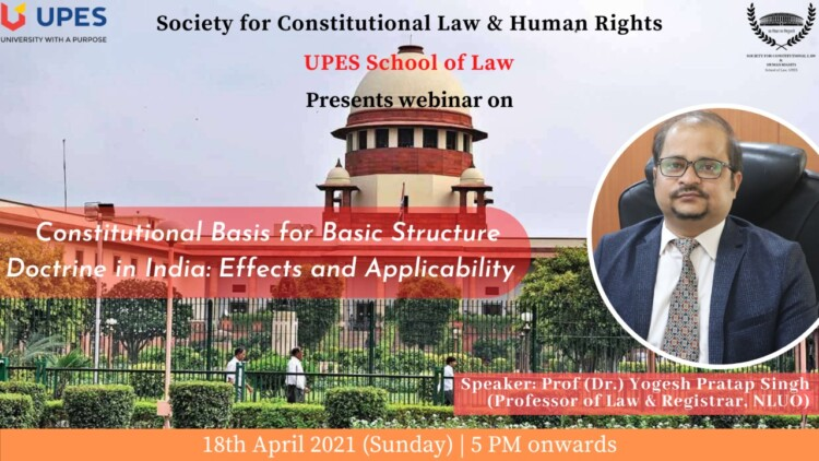 UPES Webinar on Basic Structure Doctrine of the Constitution
