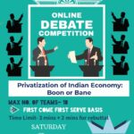 online debate competition on provatisation of indian economy by ggsipu