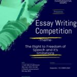 essay writing competition on freedom of speech by ggsipu
