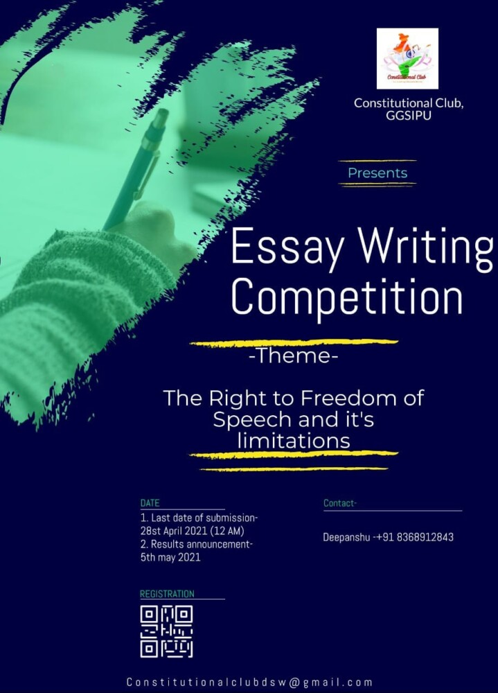 Essay competion writing essay distance learning