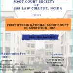 1st national hybrid moot court competition by ims law college noida