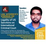 webinar on legality of us sanctions on icc by law audience