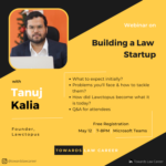 webinar on building a law startup by tanuj kalia