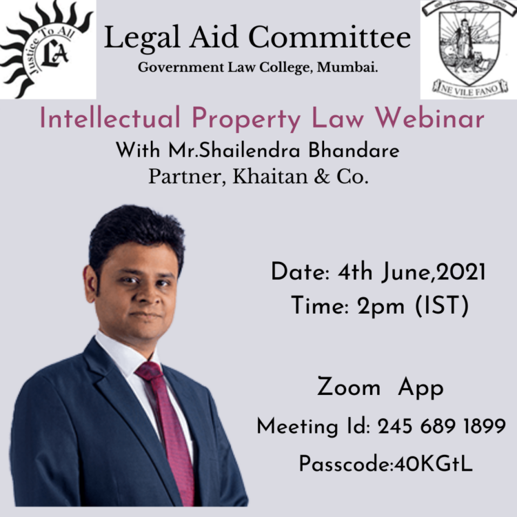 Webinar on Prospects in Intellectual Property Law by Government Law College, Mumbai