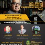 lecture by harish save on his experience in kulbhushan yadav case