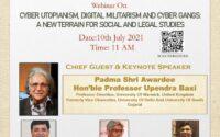 webinar on cyber utopianism, digital militarism, cyber gangs by uslls ggsipu