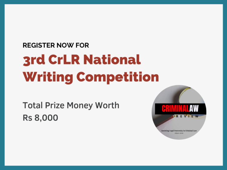 Criminal Law Review National Writing Competition