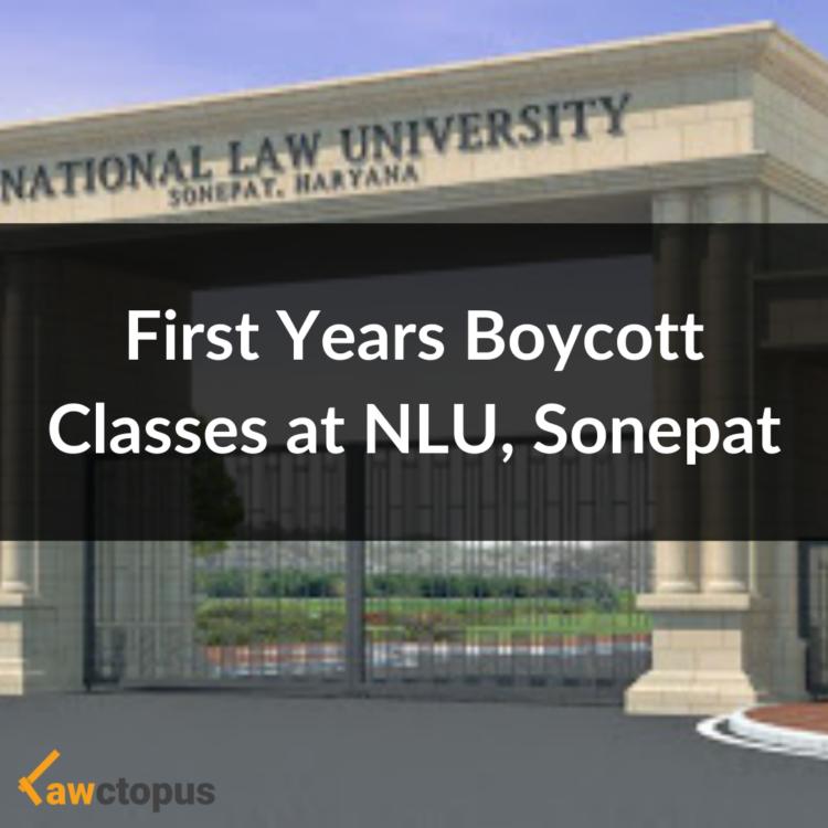 First Year Boycott Classes at NLU Sonepat