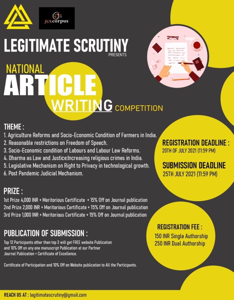 Legitimate Scrutyiny's 2nd National Article Writing Competition