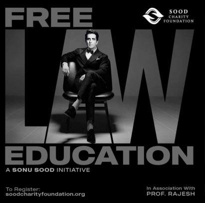 sonu sood free law entrance coaching program by sood charity foundation