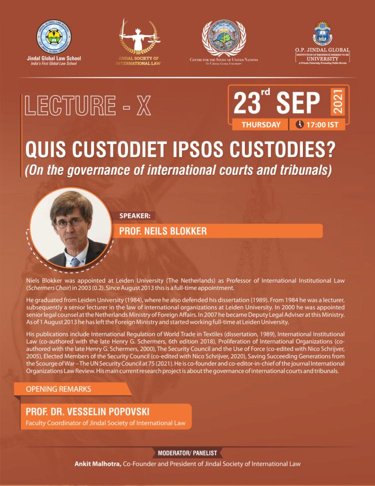 jsil jgls international law lecture on governance of international courts and tribunals