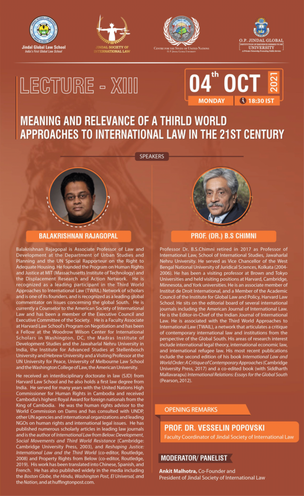 jsil jgls lecture on relevance of third world approaches to international law