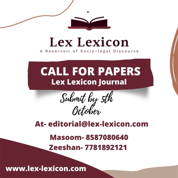 call for papers lex lexicon legal journal