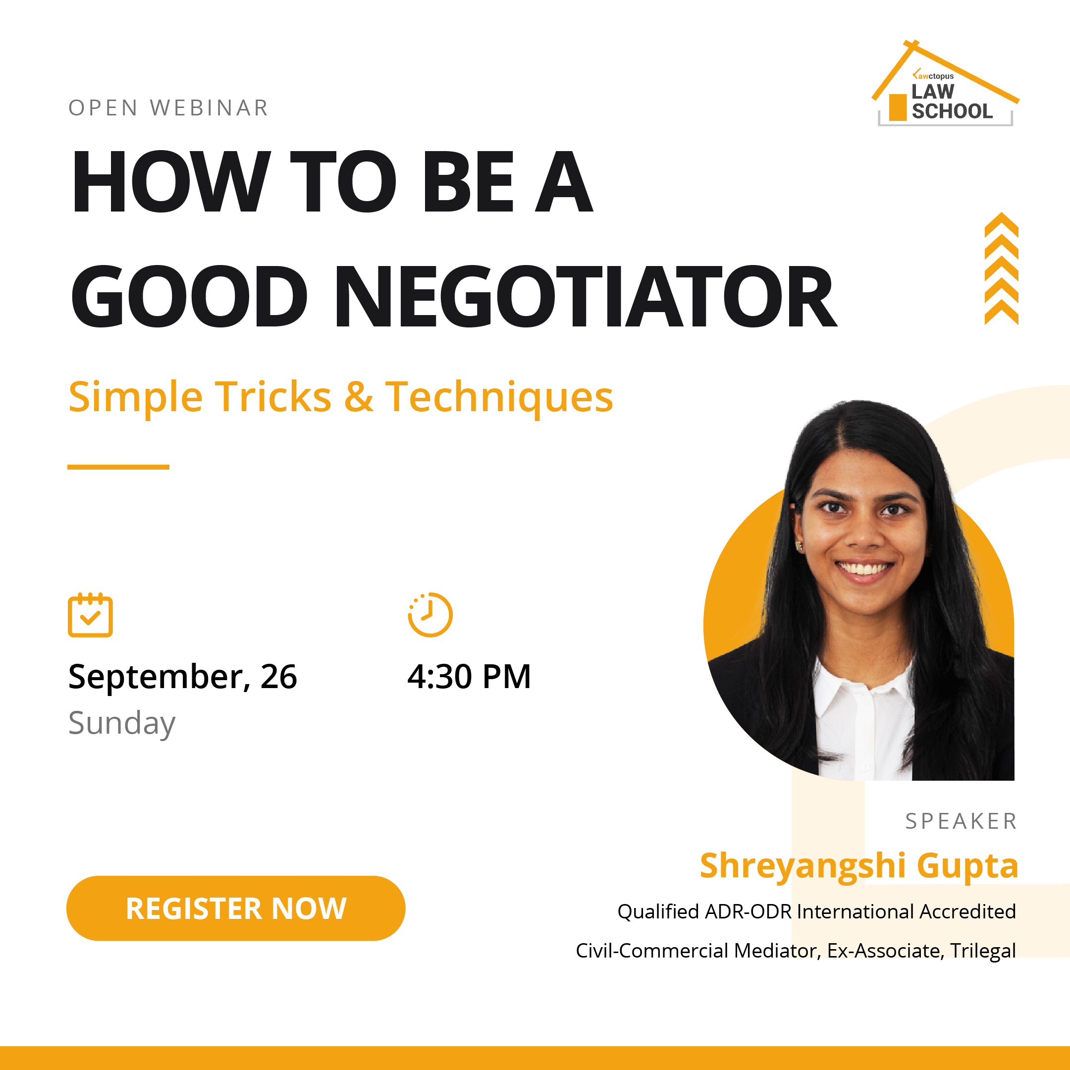 Webinar on How to be a Negotiator