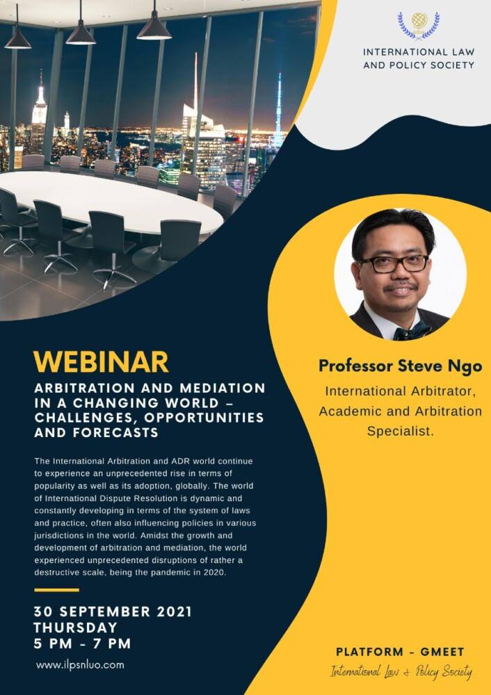 nluo ilps webinar on arbitration and mediation in a changing world