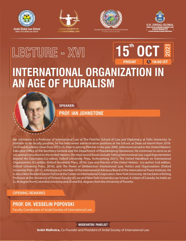 jsil jgls lecture on international organization in the age of pluralism